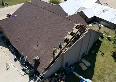 Torn Roof From Hurricane Damage